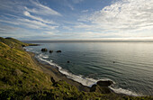 A vast landscape view of the northern California Coast from a high bluff near Inglenook, California, USA. Photo by David Stubbs / Aurora