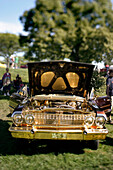 Toronto , ON - August 22 :  Low rider car on display at a hydraulic and air-asssisted car hop off competition where the winner is the car that gets the most height. Photo by Paul Giamou / Aurora