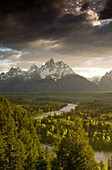 GRAND TETON NATIONAL PARK, WY - JUNE 18, 2005: The Snake River winds through the forest in Grand Teton National Park, Wyoming. photo by Ian Shive/Aurora