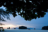 LANGKAWI, MALAYSIA - JUNE 22, 2007: Sunset at Tanjung Rhu beach. Tanjung Rhu is becoming a popular area for high end tourism. Langkawi is part of an archipelago of islands in the Andaman Sea on the West coast of Malaysia. photo by Ian Shive/Aurora