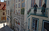 Mural with child in Quebec City Canada.  The child is a US tourist.