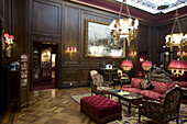 The lounge at Hotel Sacher, Vienna, Austria.  releasecode: SOPRSacher008
