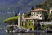 Villa del Balbianello made famous in several movies, along Lake Como, Italy.