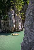 Through the Duck Hole Canyon, Koessen, Tirol, Austria, Tyrolio Ache River, Border between Austria and Germany