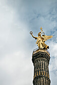 Bronze statue of goddess Victoria on the Victory Column, Berlin, Germany