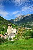 Landeck castle with Lechtal Alps in background, Landeck, Tyrol, Austria