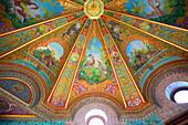 Decorative ceilings in Bathing Pavilion, Beylerbeyi Palace, Beylerbeyi, Istanbul, Anatolia, Turkey, Asia Minor, Turkey, Eurasia