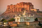 Jaswant Thada and Meherangarh Fort, Jodhpur (The Blue City), Rajasthan, India, Asia