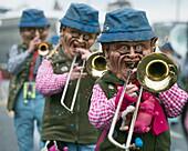 Fasnact spring carnival parade, Lucerne, Switzerland, Europe