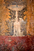 Fresco of the Villa Poppea (Villa Poppaea), Oplontis, UNESCO World Heritage Site, Campania, Italy, Europe