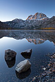 Tranquil Silver Lake at dawn in the Eastern Sierra Mountains, California, United States of America, North America