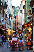 Restaurants in the Old Town, Nice, Alpes Maritimes, Provence, Cote d'Azur, France, French Riviera, Europe