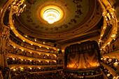 Interior of Marinsky Theatre, St. Petersburg, Russia, Europe