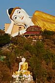 Reclining Buddha, Bodhi Tataung, Monywa, Sagaing Division, Myanmar (Burma), Asia