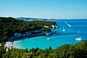 Voutoumi beach, Antipaxos, Antipaxi, Ionian Islands, Greek Islands, Greece, Europe