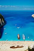 Shipwreck beach, Zante island, Ionian Islands, Greek Islands, Greece, Europe