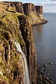 A view of Kilt Rock waterfall, Trotternish, Isle of Skye, Scotland, United Kingdom, Europe