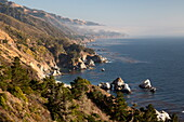 Coastline at Julia Pfeiffer Burns State Park, Big Sur, Monterey County, California, United States of America, North America