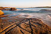 Dogs Bay at dusk, Roundstone, Connemara, County Galway, Connacht, Republic of Ireland, Europe
