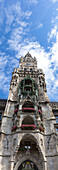 Tower of the New Town Hall, Marienplatz, Munich, Upper Bavaria, Bavaria, Germany