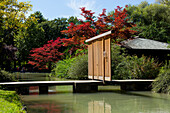 Japanese Teahouse in the English Gardens, Munich, Upper Bavaria, Bavaria, Germany