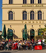Terrace of Cafes Tambosi, Hofgarten, Munich, Upper Bavaria, Bavaria, Germany