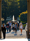 View through the Diana Temple, Hofgarten, Munich, Upper Bavaria, Bavaria, Germany
