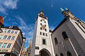 Old town hall tower, Munich, Upper Bavaria, Bavaria, Germany