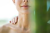 Woman receiving shoulder massage