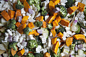 Full frame shot of vegetable salad