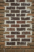Full frame shot of brick wall with paint