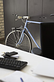 Bicycle at office table