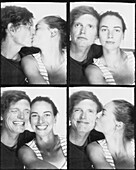 Multiple image of young couple