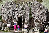 Tourists visiting Goa Gajah (Elephant Cave), Ubud, Bali, Indonesia