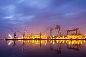 Docksyard, Howaldtswerke-Deutsche Werft, Kiel Fjord, Baltic Sea, Kiel, Schleswig-Holstein, Germany