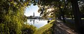 View towards Kiel townhall, Kleiner Kiel, Kiel, Schleswig-Holstein, Germany