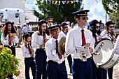 Music band in Marvao, Serra de Sao Mamede, Alentejo, Portugal