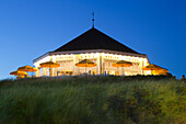 Cafe Marienhoehe in the evening, Norderney, Ostfriesland, Lower Saxony, Germany