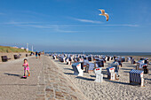 Beach, West beach, Norderney, Ostfriesland, Lower Saxony, Germany