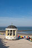 Pavilion on the beach promenade, Borkum, Ostfriesland, Lower Saxony, Germany