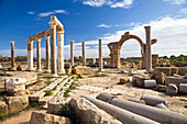 The Market, Archaeological Site of Leptis Magna, Libya, Africa