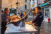 Fish stall, Alcide und Alessandro Rossi, Fondamenta di Cannaregio, Ponte delle Guglie, Venice Italy