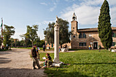 remains of the Piazza, Torcello, Torcello island, lagoon, Cathedral of Santa Maria Assunta, Venice, Italy