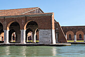 Venetian Arsenal, docks, historic military industrial shipbuilding quarter of Venice, maritime, Lagoon, Venice, Italy