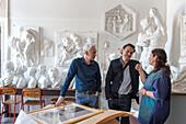 Art School, Liceo Artistico di Venezia, Giovanna Fornasiero and colleagues in sculpture room, Venice Italy