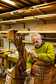 workshop of Venetian forcola and oar maker Saverio Pastor, craftsman, art object, tradition, Venice, Italy