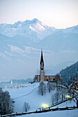 Church on Pankraz hill, at the entrance to Zillertal, Tirol, Austria
