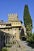 Greece, Chalkidiki, Mount Athos peninsula, listed as World Heritage, Stavronikita monastery.