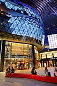 ION Orchard shopping mall at night, Orchad Road, Singapore.
