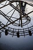 Wiener Riesenrad, Viennese giant ferris wheel, Volks-Prater amusement park, Vienna, Austria, Europe.